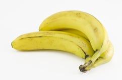 Banana. Yellow banana on white background Royalty Free Stock Photo