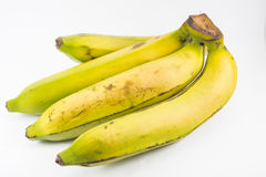 Banana. Yellow banana on  white background Royalty Free Stock Images