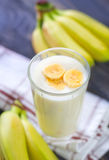 Banana yogurt Stock Photography