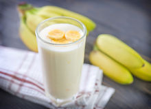 Banana yogurt Stock Image