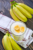 Banana yogurt Royalty Free Stock Photos
