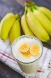 Banana yogurt Stock Photo