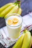 Banana yogurt Stock Images