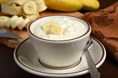 Banana yogurt Royalty Free Stock Photography
