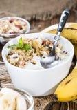 Banana Yogurt Royalty Free Stock Images