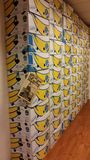 bananabox Wand Stockfotografie