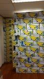 Bananaboxes. Yes we have no bananas Stock Photo
