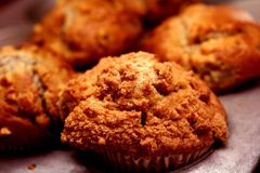 banananut muffins στοκ φωτογραφίες