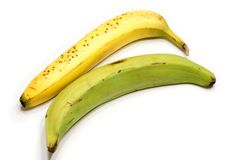 Bananas. Picture of two bananas isolated on the white background Stock Image