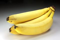 Bananas. Bunch of bananas with clipping path royalty free stock images