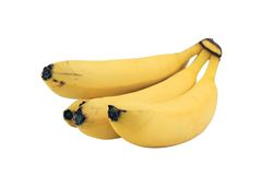Bananas. Isolated on white background with clipping path stock photography