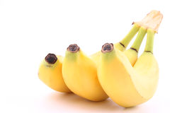 Bananas. Bunch of fresh bananas isolated on white close-ups Royalty Free Stock Image