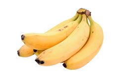 Bananas. Isolated on white background (includes clipping path Royalty Free Stock Photos