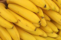 Bananas. This picture is a representation of a yellow bananas Royalty Free Stock Images