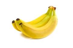 Bananas. Tree bananas isolated on white Royalty Free Stock Photos