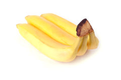 Bananas. Bundle of ripe sweet bananas, isolated on white background stock image