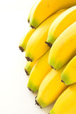 Bananas. Bunch of bananas set on a white background stock images