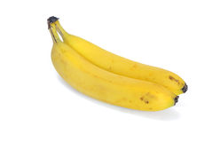 Bananas. Two bananas isolated on a white background Royalty Free Stock Image