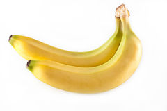Bananas. A pair of bananas isolated on a white background Royalty Free Stock Photo
