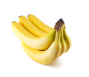 Bananas. Fresh yellow bananas isolated on white background Royalty Free Stock Photo