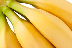 Bananas. Bunch of bananas against white background Royalty Free Stock Images