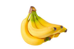 Bananas. A bunch of bananas isolated on white background Stock Images