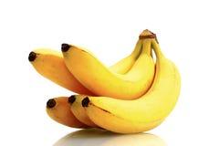 Bananas. Fresh bananas on white ground Stock Image