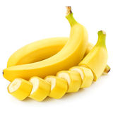 Bananas. Isolated on white background royalty free stock photography