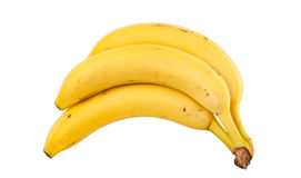 Bananas. Ripe bananas on a white background Stock Images