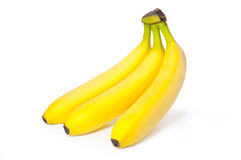 Bananas. Bright ripe bananas on a white background Stock Photos