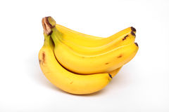 Bananas. A pair of bananas, on a white background Stock Photography