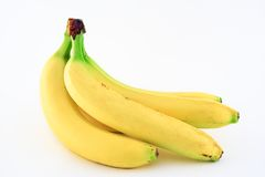 Bananas. Against white background Royalty Free Stock Photos