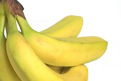 Bananas. Bunch of bananas on a white background Royalty Free Stock Photography