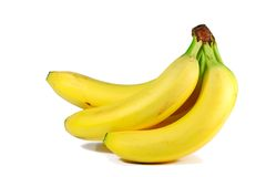Bananas. Isolated bunch of bananas Stock Images