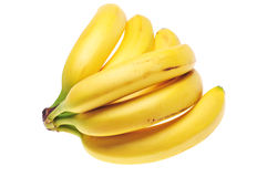Bananas. Bunch of fresh bananas isolated on white background stock photography