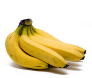 Bananas. Bunch of bananas on a white background Stock Photos