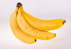 Bananas. Bunch of bananas on white background Royalty Free Stock Image