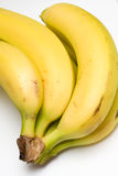 Bananas. Yellow bananas on white background Stock Image