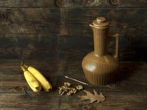 Bananas and acorns. Stock Photos