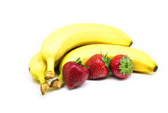Bananas And Strawberries Royalty Free Stock Photography