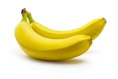 Bananas. Appetizing ripe bananas  on white background Stock Photo