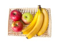 Bananas and apples Stock Image