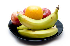 Bananas and apples and orange Stock Image