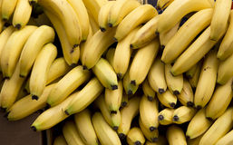 Bananas background Stock Photos