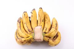Bananas. Group on white background stock images