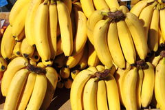 Bananas. For sale in a greengrocery stock photography