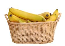 Bananas in basket Stock Photography
