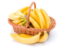 Bananas in basket Royalty Free Stock Photos