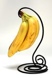 Bananas on Black Holder Stock Photos
