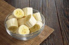 Bananas in bowl Royalty Free Stock Image